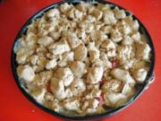 Rhabarberkuchen mit Vanillecreme und Streusel - Rezept