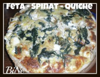 BiNe` S FETA - SPINAT - QUICHE - Rezept
