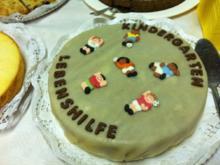Schokoladentorte mit Marzipanüberzug - Rezept