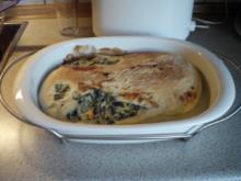Blätterteigrolle gefüllt mit Spinat, Ricotta und Lachs / Rotolo di ricotta e spinaci - Rezept