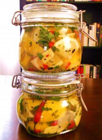 Sauer-pikant eingelegte Zitronen (Afghanische Art) - Rezept