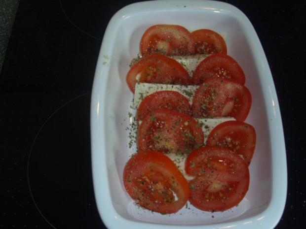 Tomaten-Feta-Pesto-Überbacken - Rezept - Bild Nr. 3