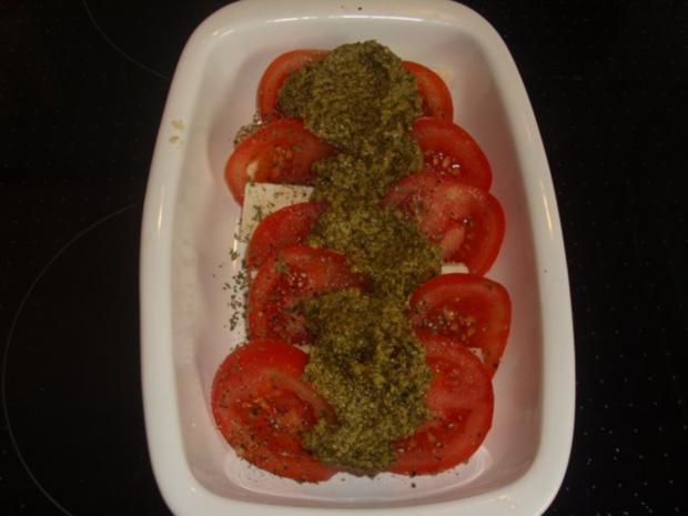 Tomaten-Feta-Pesto-Überbacken - Rezept - Bild Nr. 4