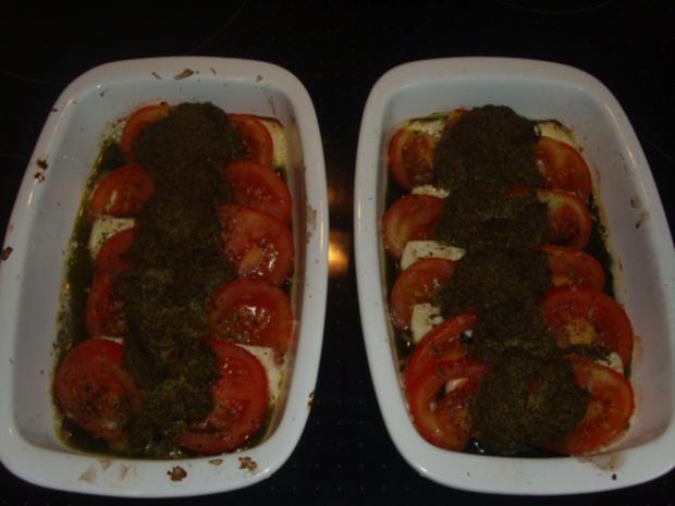 Tomaten-Feta-Pesto-Überbacken - Rezept - Bild Nr. 5