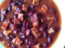 Eintopf: Rote Bohnen mit Schinkenspeck - Rezept