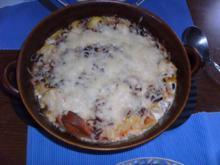 Sahniges Kartoffel-Wurst-Gratin - Rezept