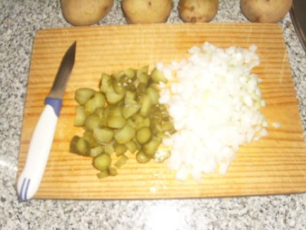 Grüner Kartoffelsalat mit Bratwurst - Rezept - Bild Nr. 4