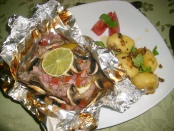 Koteletts in Folie mit Schwenkkartoffeln>> - Rezept