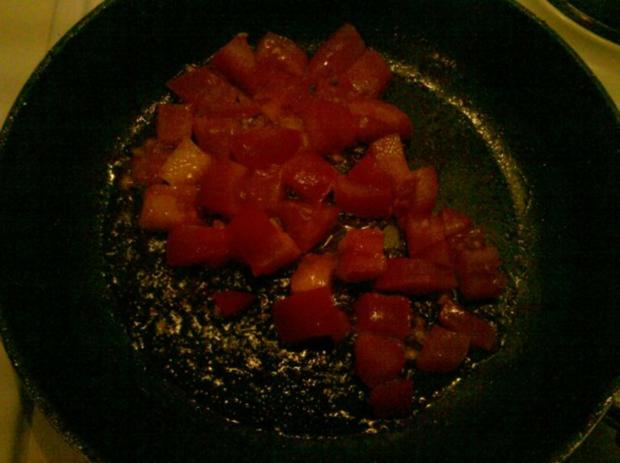 Abendbrot: Pikantes Spiegelei mit Tomate - Rezept - Bild Nr. 3