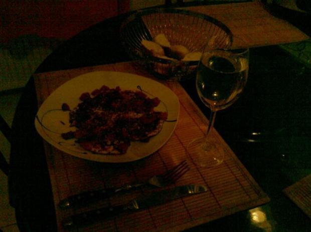 Abendbrot: Pikantes Spiegelei mit Tomate - Rezept - Bild Nr. 6