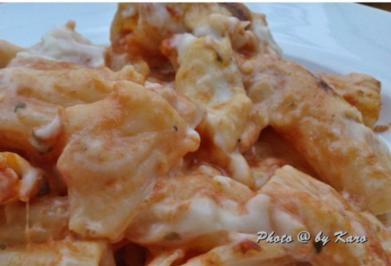 Cremige Tomaten Pasta aus dem Backofen - Rezept
