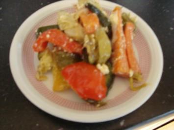 Grillgemüse mit Feta - Rezept