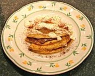 Bananen-Nutella-Pfannkuchen - Rezept