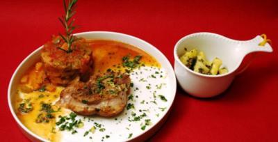 Ossobuco an Schmorgemüse und Salbeignocci - Rezept