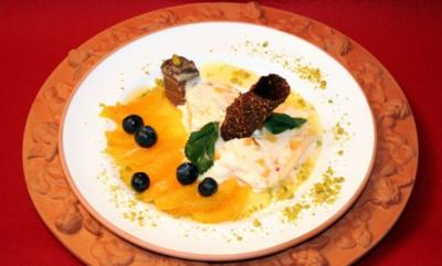 Rezept: Cassata di Arance auf Orangen-Likörspiegel