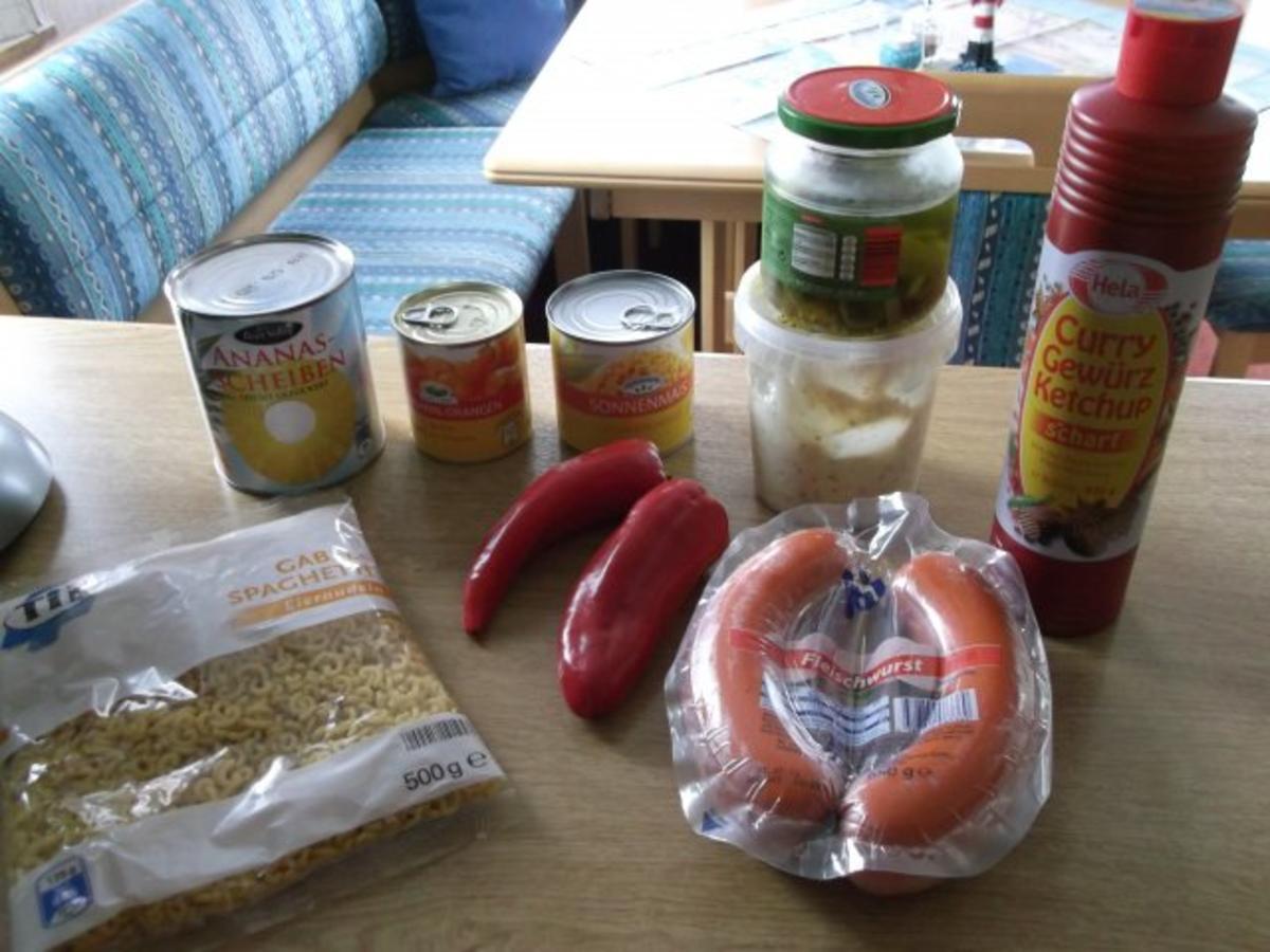 Bilder für Nudelsalat süssliche Variante - Rezept