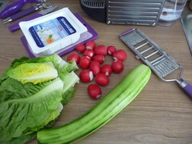 Fixe Küche : Pizza-Leberkäse gebraten mit Salat und Salzkartoffeln - Rezept - Bild Nr. 5