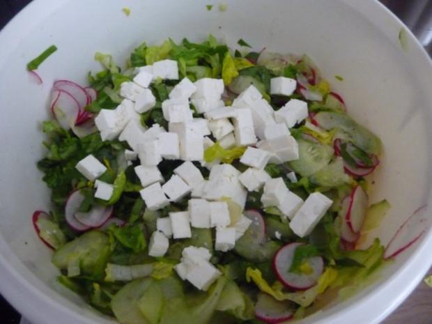 Fixe Küche : Pizza-Leberkäse gebraten mit Salat und Salzkartoffeln - Rezept - Bild Nr. 12