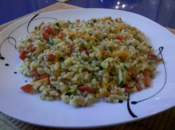 Gemüse: Bulgurtopf mit bunten Gemüse - Rezept
