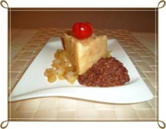 Blutwurst mit Stampfkartoffeln und viel gebratenen Zwiebeln - Rezept