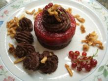 Dessert: Trostpflaster - Schoko-Mousse liebt Johannisbeergelee - Rezept