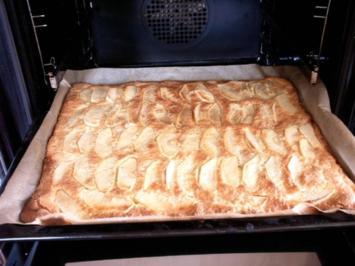 Apfel- Mürbe Kuchen mit Vanille-Sahne - Rezept