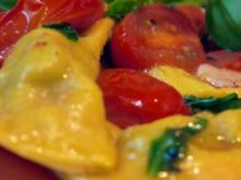 Merguez-Ravioli mit warmen Tomaten - Rezept