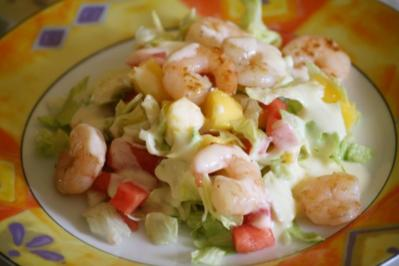 Mango-Garnelen-Salat - Rezept
