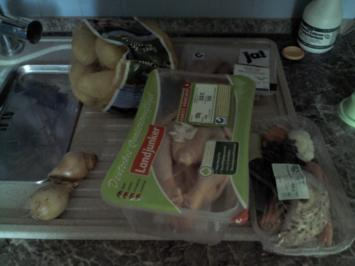 Rezept: Gefühltes Hähnchen mit Schweinemett