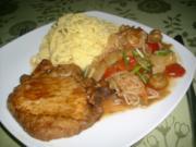 Schweinesteak mit Chilimarinade>> - Rezept