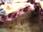 Backen: Kirschenkuchen mit Schokoboden - Rezept
