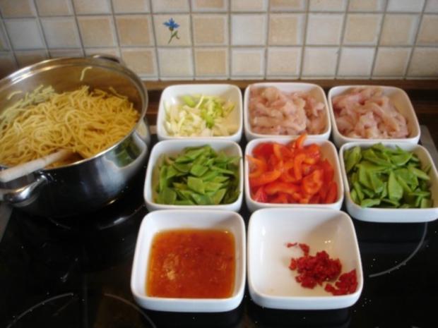 Asiatisches Chili-Hähnchenbrustfilet mit Mie-Nudeln - Rezept - Bild Nr. 5