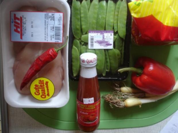 Asiatisches Chili-Hähnchenbrustfilet mit Mie-Nudeln - Rezept - Bild Nr. 2