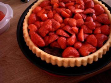 Erdbeer Schoko Biskuit - Rezept