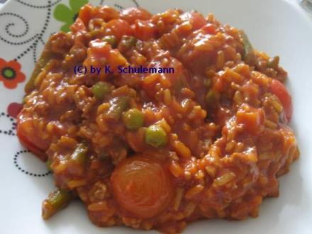 Gemüsereispfanne - Rezept