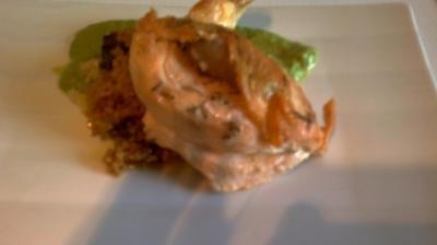 Hähnchenbrust nach Art der schottischen Cock-a-Leekie mit Ingwer und Graupen - Rezept