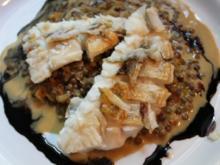 Zanderfilet mit Pui-Linsen und Orangen - Rezept