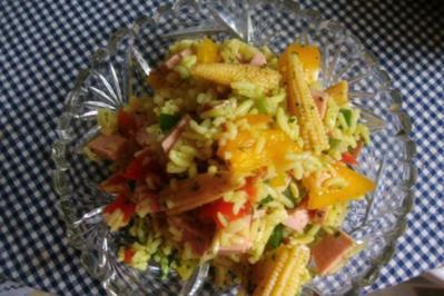 Reissalat mit arabischen Curry - Rezept