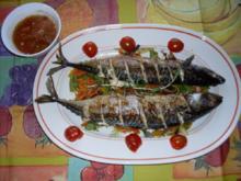 NT-Makrelen auf Gemüsenudeln mit Papaysößchen - Rezept