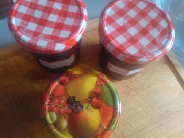 Kirschmarmelade wuerzig und feurig - Rezept