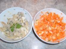 Karotten-Apfel-Salat und Jägersalat - Rezept