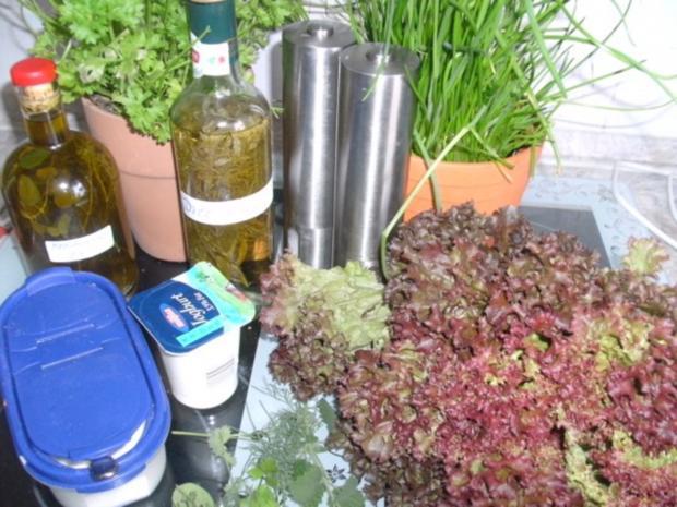 Lollo Rosso-Salat und Erbsensalat - Rezept - Bild Nr. 2