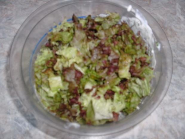 Lollo Rosso-Salat und Erbsensalat - Rezept - Bild Nr. 6