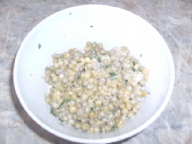 Lollo Rosso-Salat und Erbsensalat - Rezept - Bild Nr. 9