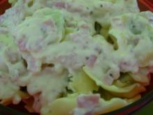 Tortelloni mit Käse-Schinken-Soße - Rezept