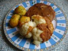 Schnitzel vom Schweinekamm mit Schwenkkartoffeln - Rezept