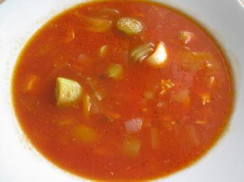Tomaten-Geflügel-Suppe - Rezept - Bild Nr. 888