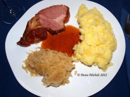 Schweineschulter aus dem Ofen nach rheinischer Art - Rezept