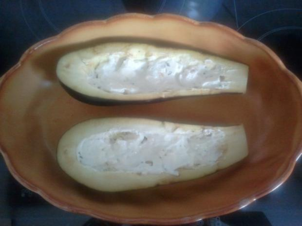 gefüllte Auberginen - Rezept