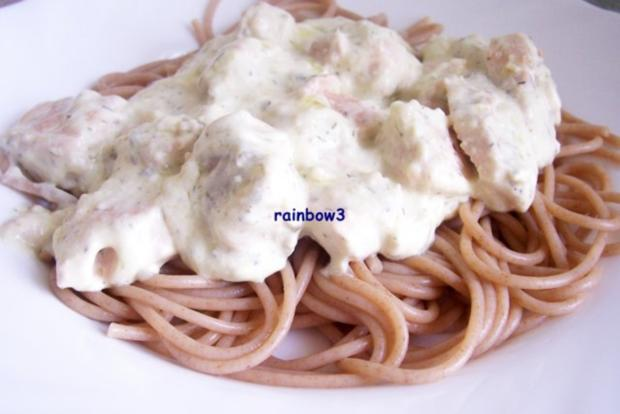 Kochen: Lachs in Käsesauce zu Spaghetti - Rezept